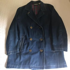 Vintage lizwear denim peacoat
